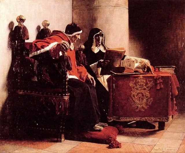 Жан Поль Лоренс. Папа и инквизитор. 1882