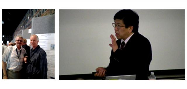 Рис. 23. Известные иностранные ученые, поддержавшие идею создания в УрФУ лаборатории по холодному синтезу: слева профессор MIT Питер Хагельштейн и руководитель японской государственной программы NEDO по холодному синтезу профессор Университета Тохоку Яшухиро Ивамура