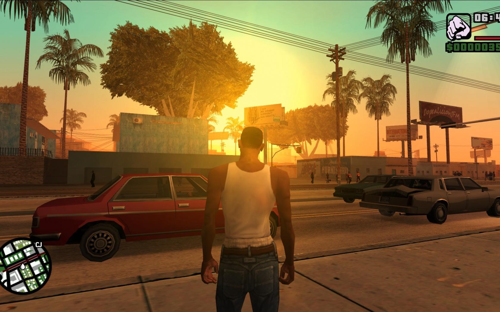 видео графику Gta San Andreas подтянули до уровня Gta V