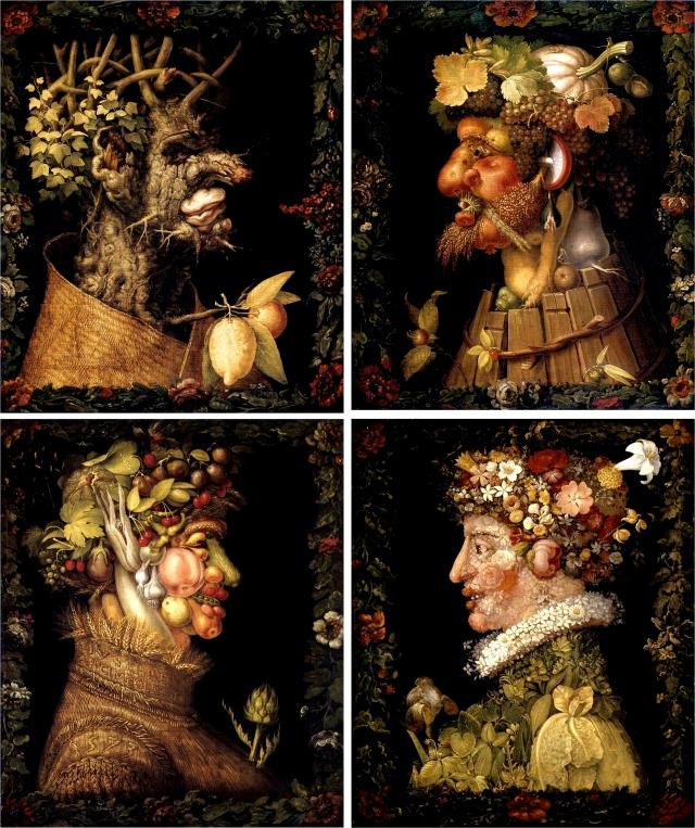 Джузеппе Арчимбольдо. Цикл «Времена года» (1573)