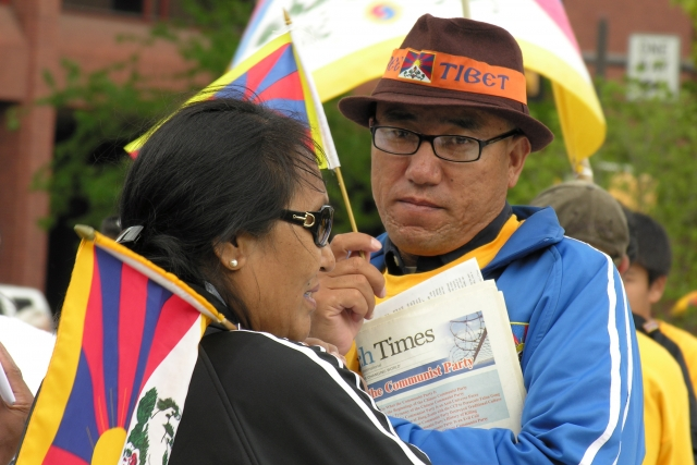 Демонстрация за свободный Тибет
