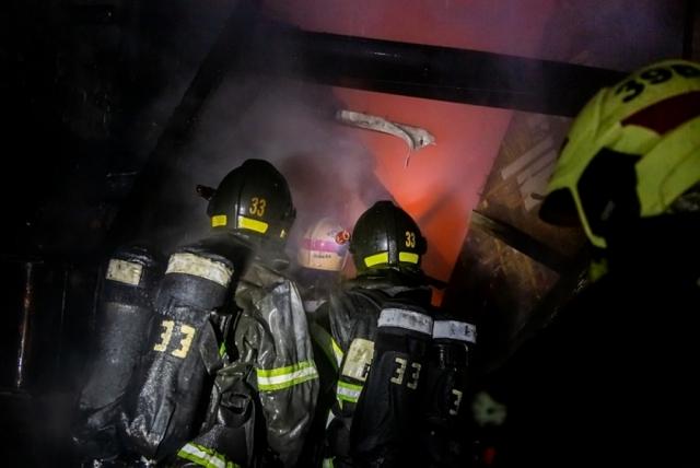 В Новой Москве произошел пожар в гаражном комплексе