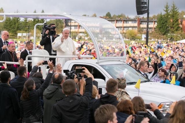 Папа Франциск в Латвии