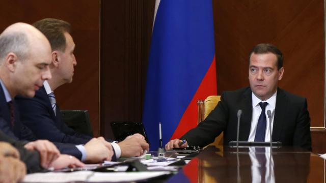 Антон Силуанов, Игорь Шувалов и Дмитрий Медведев