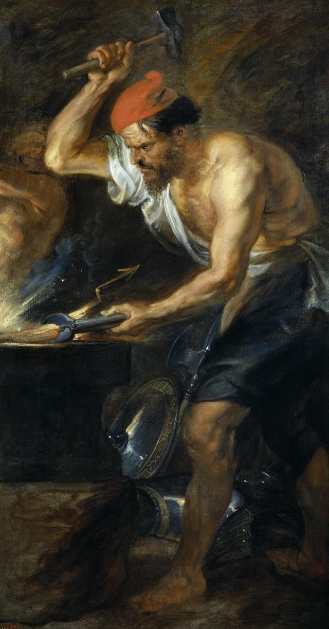 Питер Пауль Рубенс. Вулкан кует молнии Юпитеру. 1638