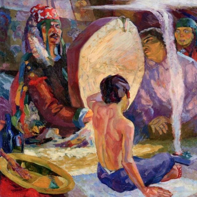 Алексей Вощакин. Шаман в юрте. 1927