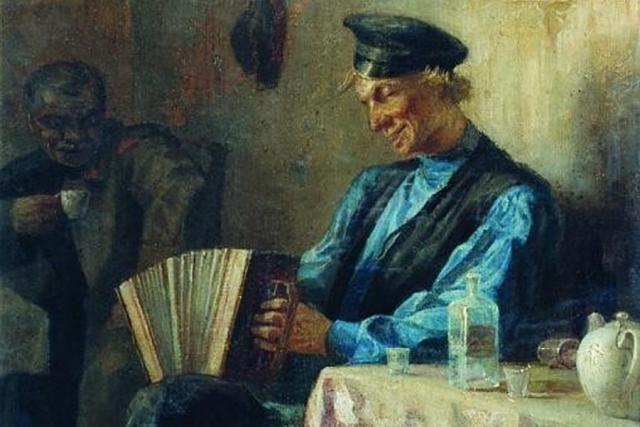 Леонид Соломаткин. В трактире (фрагмент)