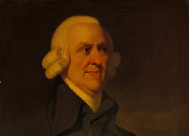 Неизв. художник. Портрет Адама Смита (фрагмент). Ок. 1800