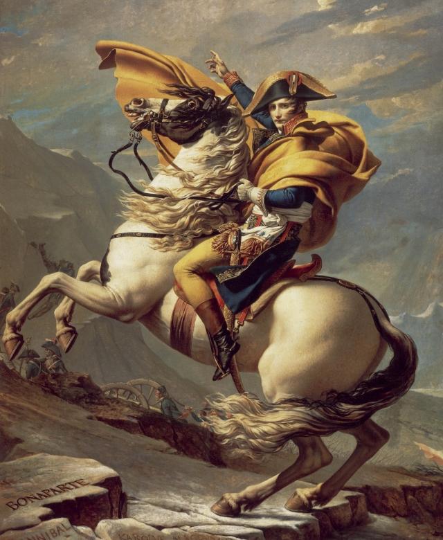 Жак-Луи Давид. Наполеон пересекает Альпы. 1800–1801