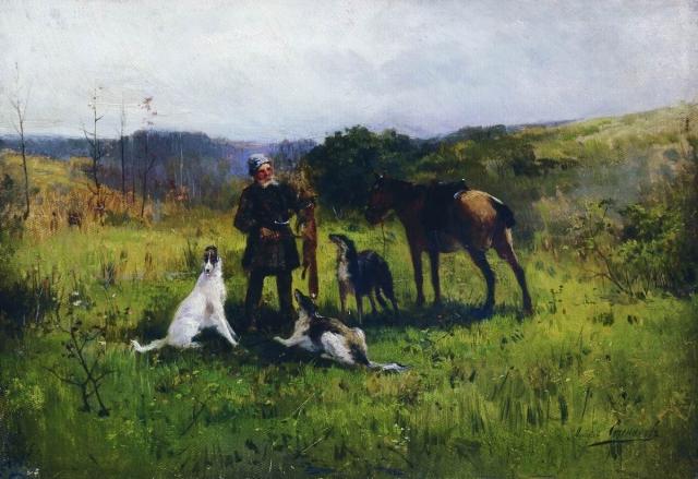 Алексей Степанов. Охота. 1885