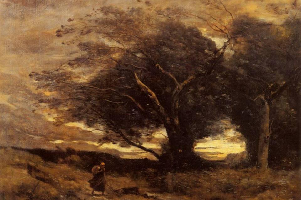 Камиль Коро. Порыв ветра. 1870