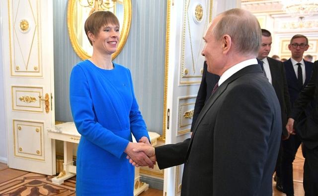 Путин принял в Кремле президента недружественной Эстонии