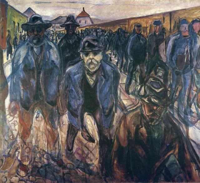 Эдвард Мунк. Рабочие на пути домой. 1913 — 1915