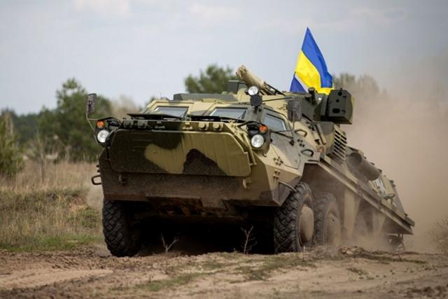 Украинский БТР