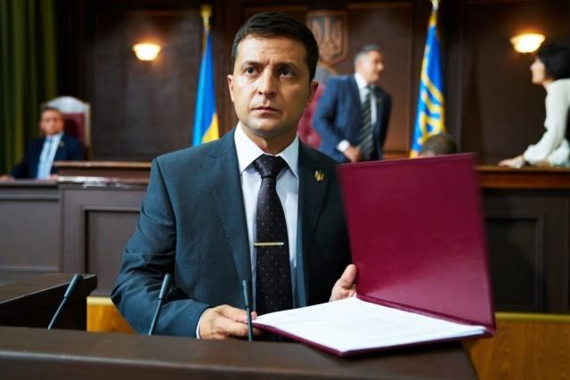 Владимир Зеленский в роли президента Василия Голобородько