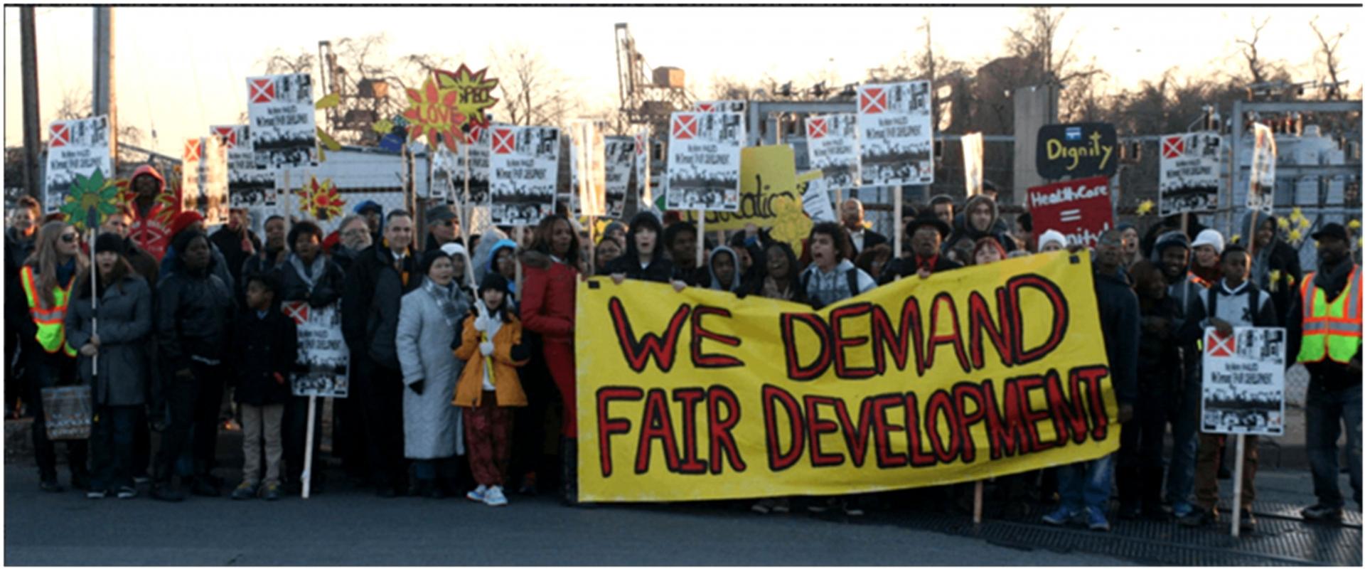 Марш против строительства МСЗ