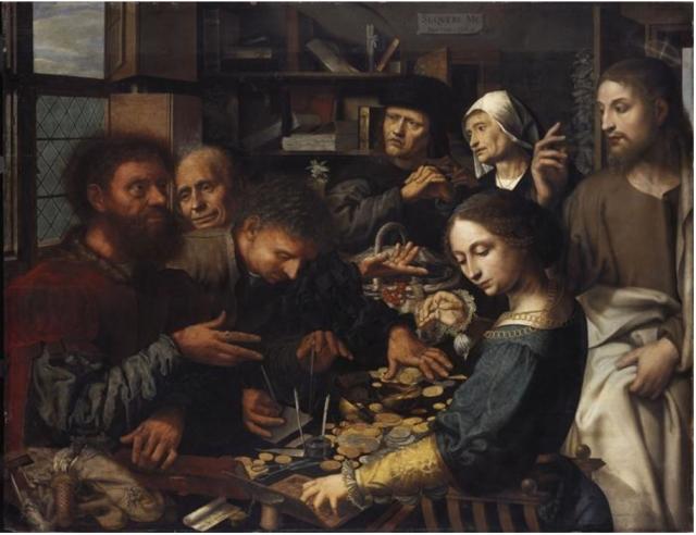 Ян Хемессен. Призвание Матфея. 1536 год