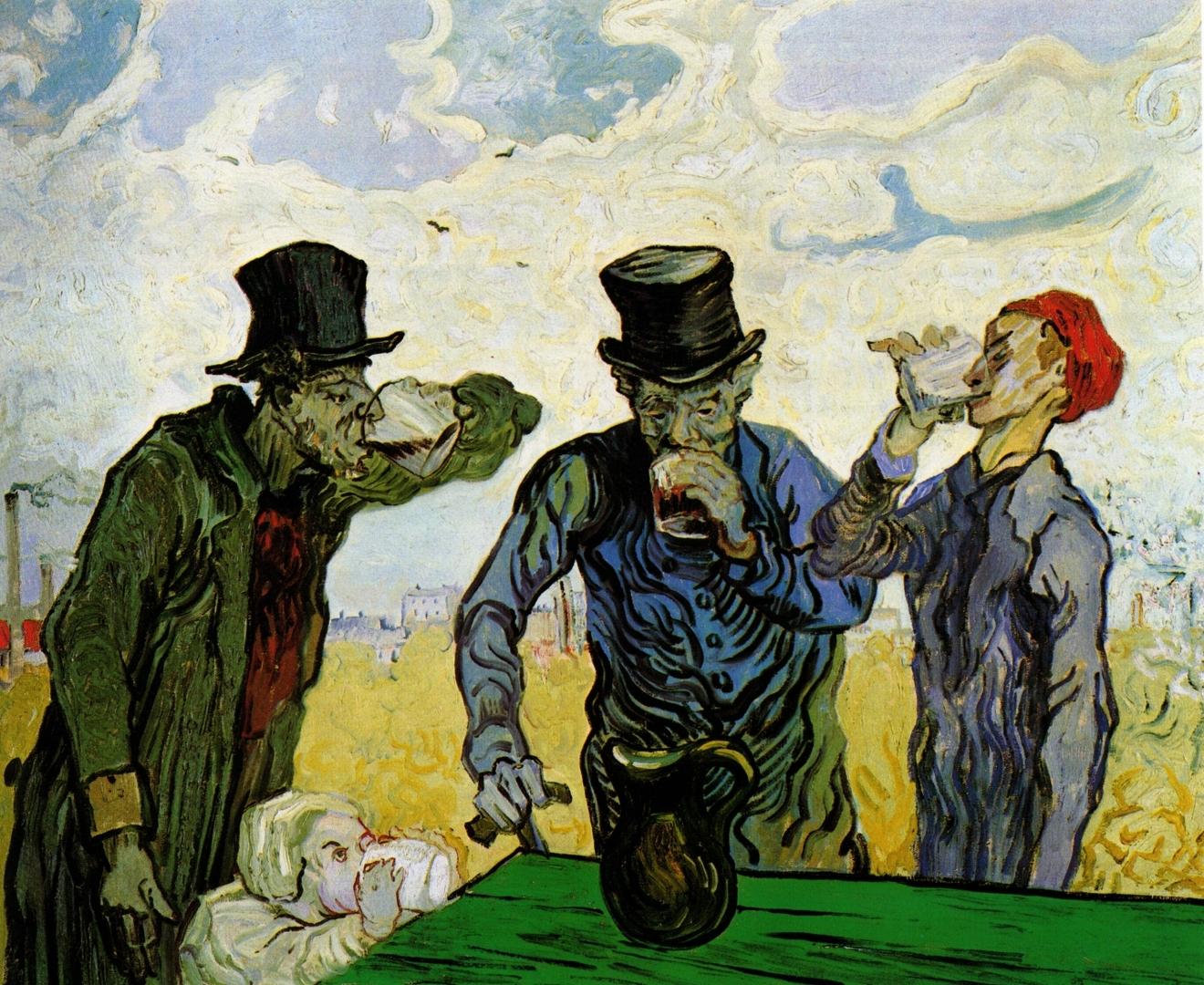 Ван Гог. Пьяницы. 1890