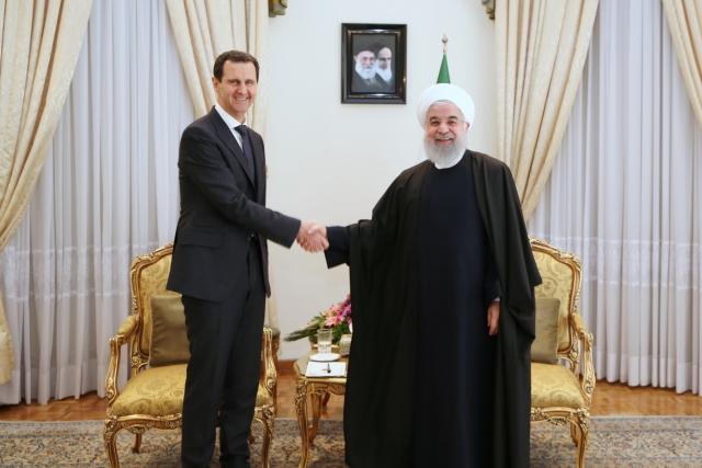 Встреча Башара Асада и Хасана Рухни в Иране