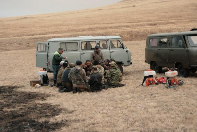Сотрудники государственного заповедника «Даурский»