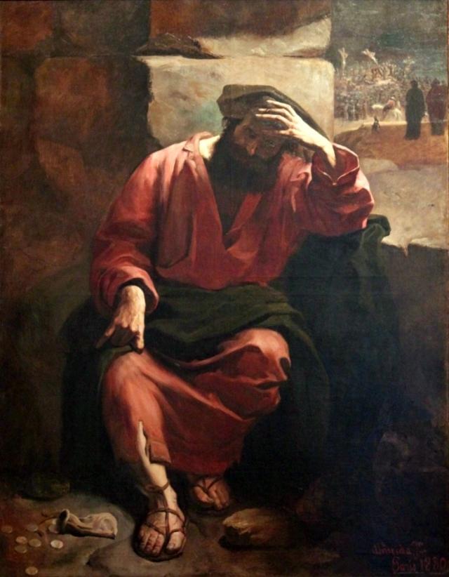 Жозе Феррас де Алмейда Жуниор. Раскаяние Иуды. 1880