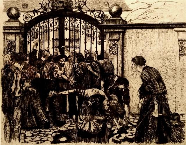 Кете Кольвиц. Восстание силезских ткачей. Штурм. 1898