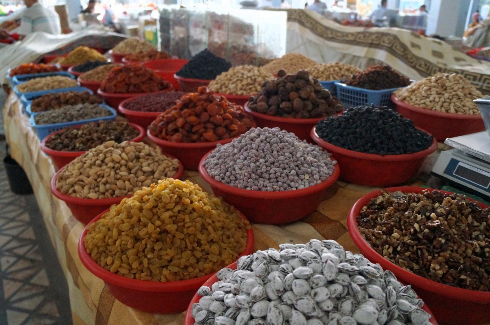 Узбекские сехофрукты и орехи