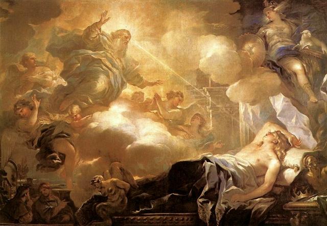 Лука Джордано. Сон Соломона. Бог обещает Соломону Мудрость. 1695