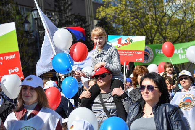 Первомайская демонстрация в Саратове