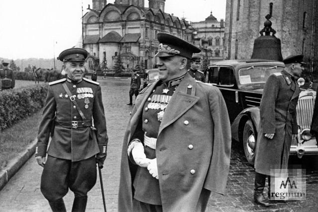 Маршал Советского Союза Г.К. Жуков. Парад Победы на Красной площади 24 июня 1945 года
