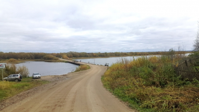 Усть речки Курья, у Холмогор, где царская яхта Транспорт Ройял провела зиму 1701-1702 годов
