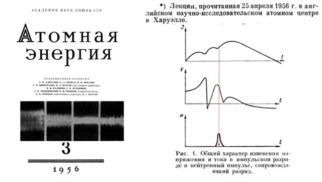 Рис. 11. Из лекции И.В. Курчатова, прочитанной им в атомном Центре (Хэрруэлл, Великобритания)