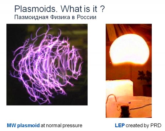 Рис. 14. Типичные виды энергоемких структурированных плазмоидов