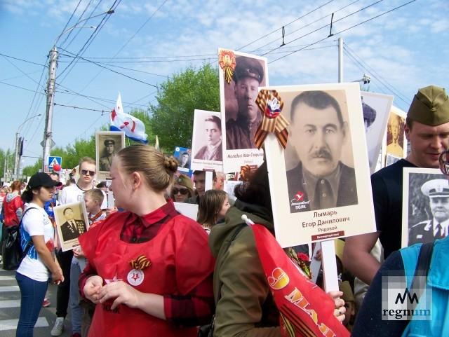 Барнаул. Шествие «Бессмертного полка» вот-вот начнётся