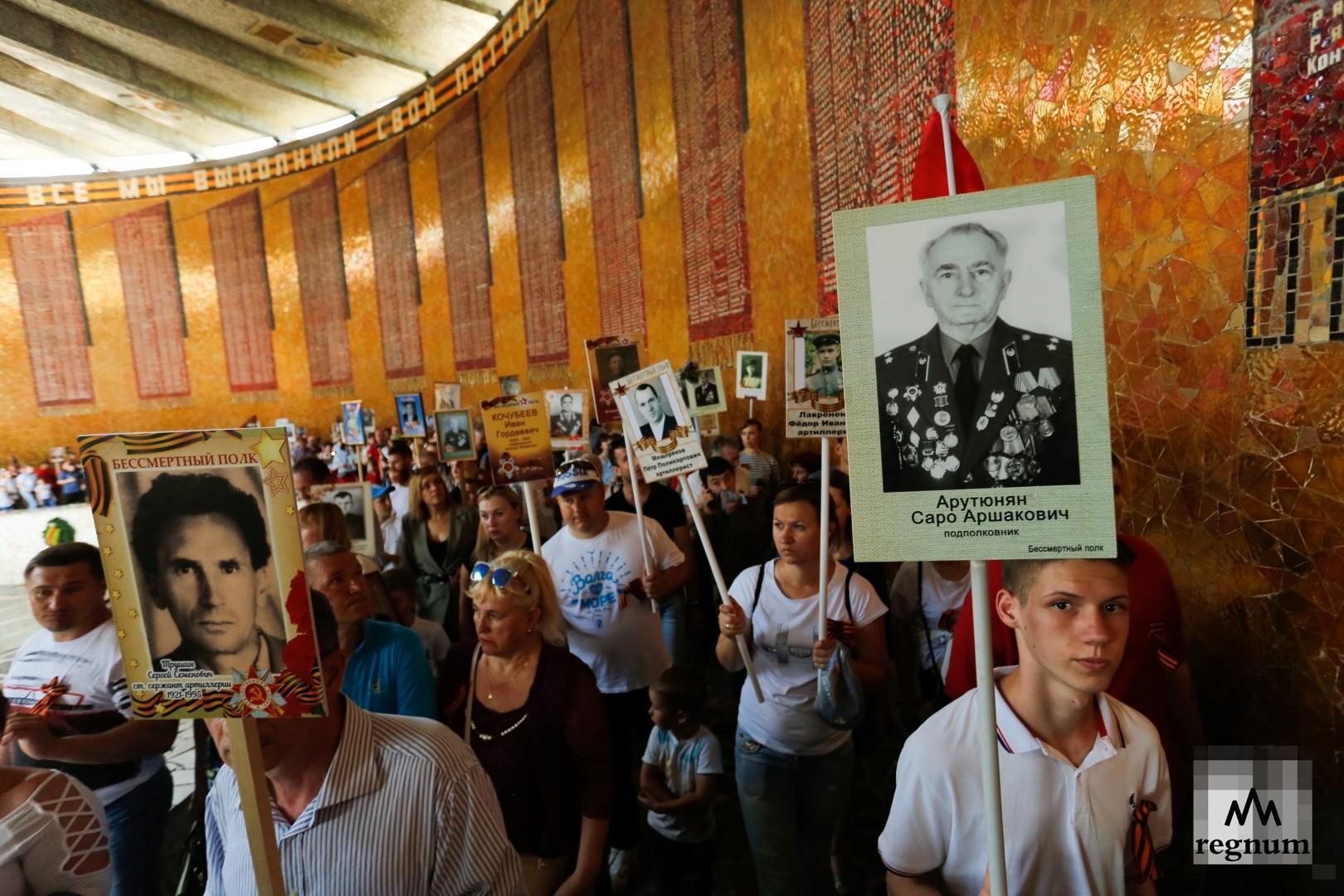 Мамаев курган в День Победы