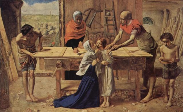 Джон Эверетт Милле. Иисус в родительском доме (Мастерская плотника)