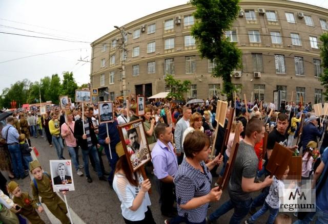 «Бессмертный полк» в Воронеже собрал рекордное количество участников