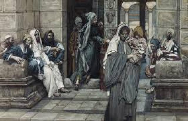 Джеймс Тиссо. Лепта вдовы. XIX век