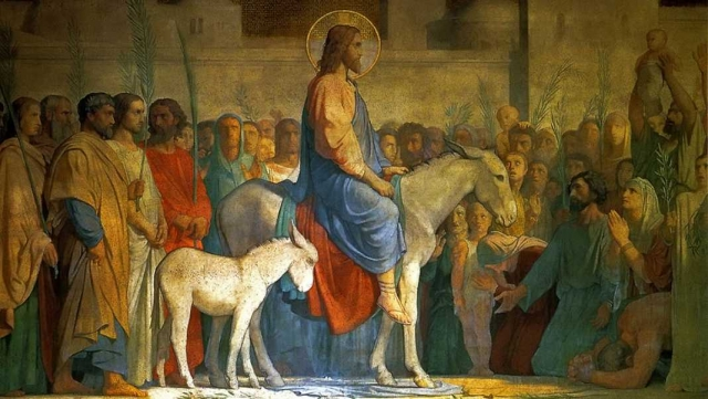 Ипполит Фландрин. Вход Христа в Иерусалим. 1842 г