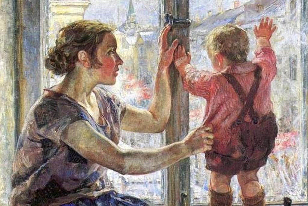 Николай Терпсихоров. Окно в мир (фрагмент). 1928