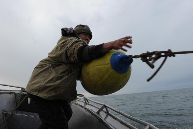 На охоте чукчи используют «шары пых-пых», которые, с одной стороны, обозначают направление движения кита, с другой стороны, «тянут» его на поверхность и снижают скорость