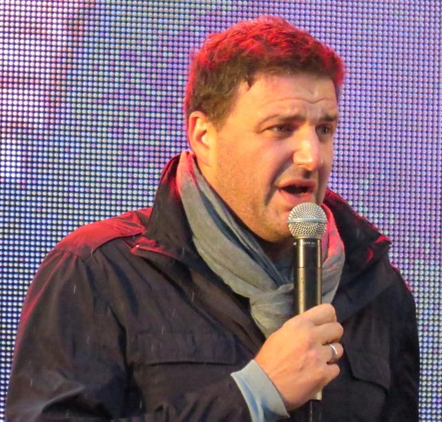 Максим Виторган на концерте-митинге в поддержку кандидата в мэры Москвы Алексея Навального на проспекте Сахарова 6 сентября 2013 года