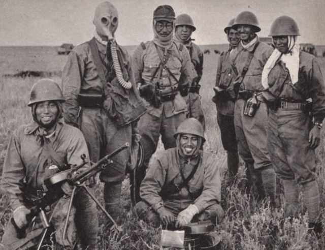 Японские солдаты на Халхин-Голе. 1939