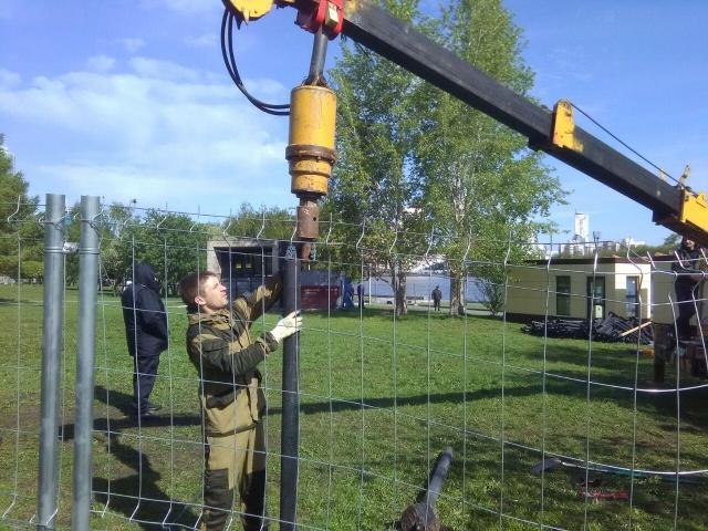 В Екатеринбурге продолжили работы по строительству храма Святой Екатерины