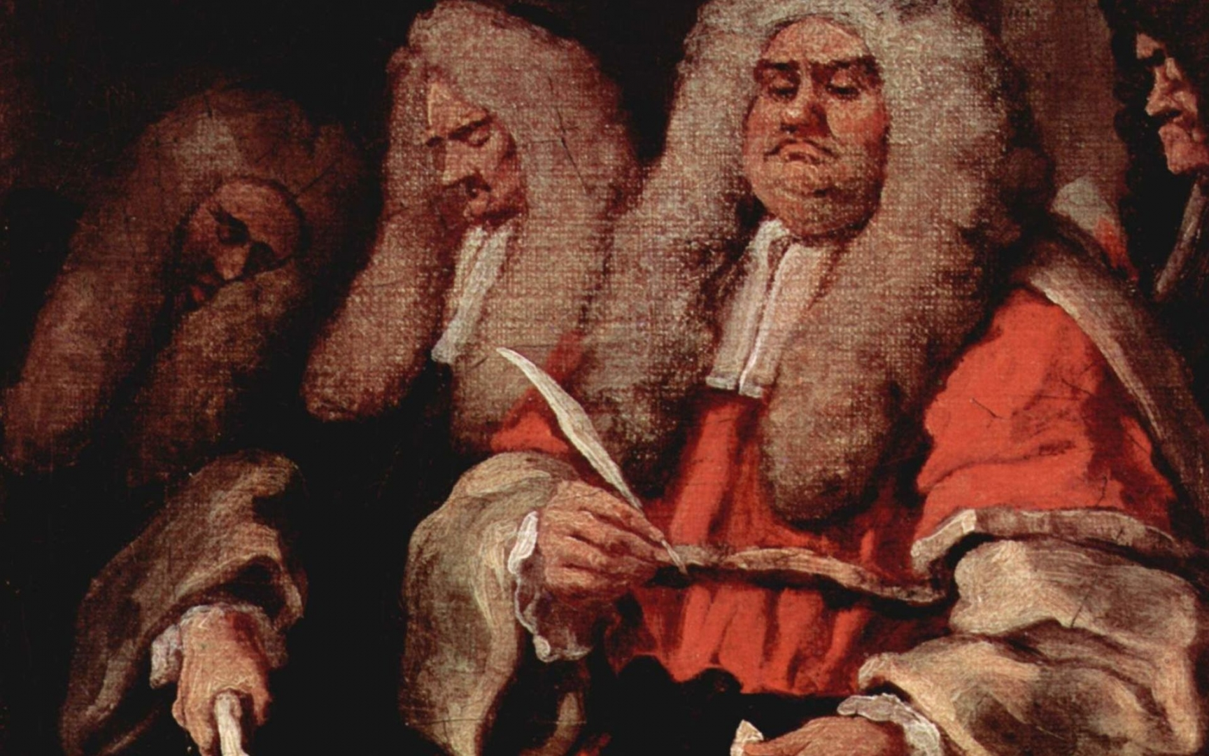Хогарт  Уильям. Суд. 1758
