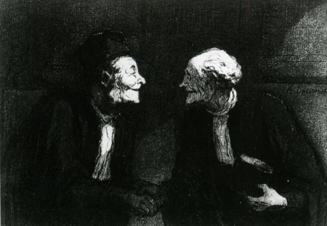 Оноре Домье. Два юриста пожимают руки