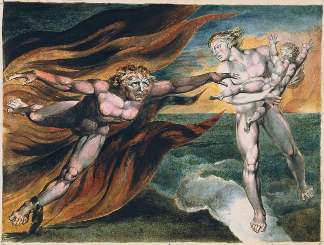Уильям Блейк. Ангелы добра и зла. 1795
