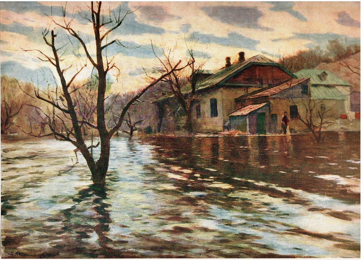 Сергей Святославский. Наводнение. 1900-1903