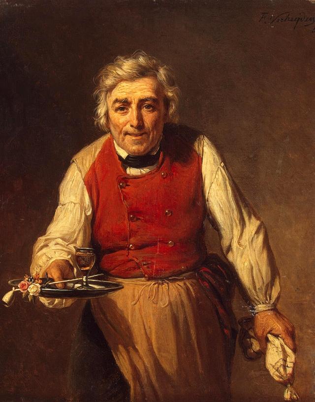 Франсуа Верхейден. Слуга с подносом. 1852