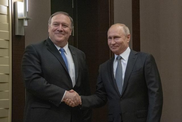Помпео назвал переговоры с Путиным в Сочи успешными